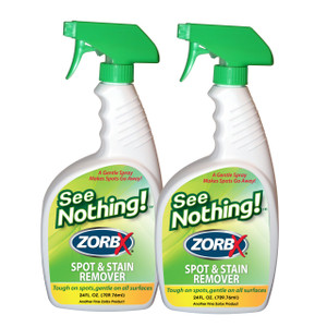 Eliminate stains with ZORBX 24 oz. See Nothing value pack