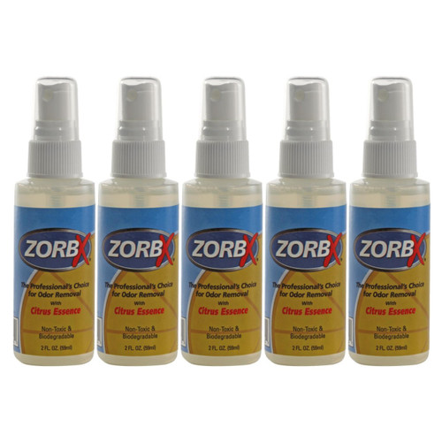 Eliminate odors and smells instantly with ZORBX handy 2 oz citrus odor remover