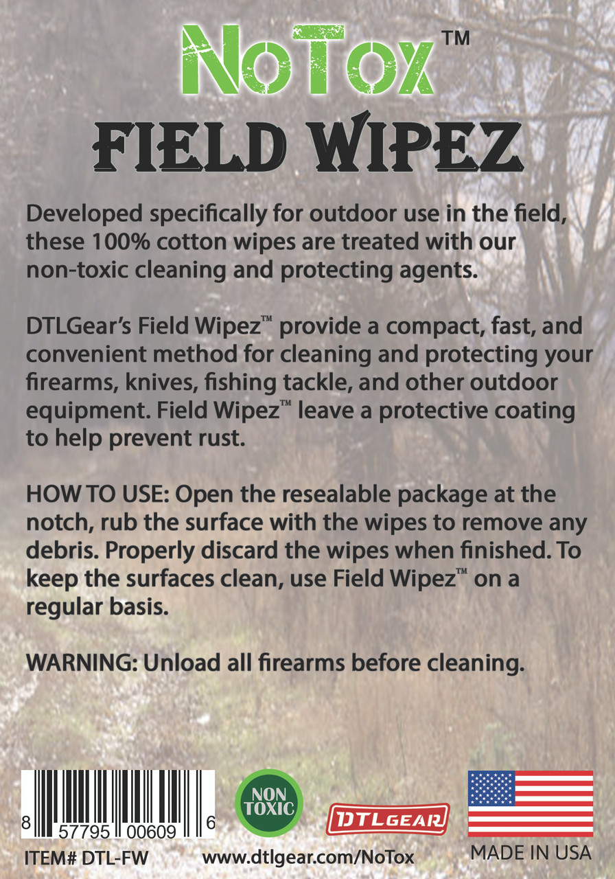 DTLgear NoTox field wipes