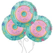 Donut Celebration Selfie Mylar Balloons - 3 Pack