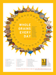 Oldways Whole Grains Every Day Poster