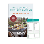 Make Every Day Mediterranean Diet Book and Mediterranean Diet Grocery List