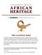 A Children's Taste of African Heritage Teacher's Curriculum - Sankofa