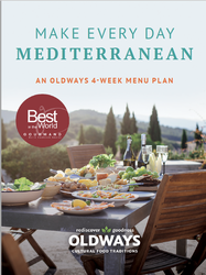 Make Every Day Mediterranean: An Oldways 4-Week Menu Plan Book Cover