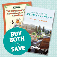 Oldways 4-Week Mediterranean Diet Menu Plan Book Bundle - Two Editions (2017 & 2019)