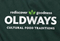 Hunter green apron with Oldways logo
