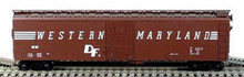 BOWSER HO 50 Foot Box Cars (Single Door) KIT   Western Maryland 3-1512  OL 1