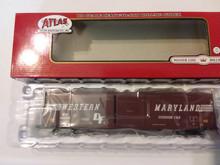 Atlas HO ACF 60 foot single door Auto Parts boxcar Western Maryland Road 4959799