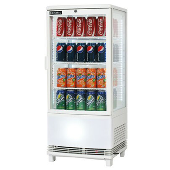Bromic CT0080G4WC Countertop Beverage Chiller Curved Glass (White)