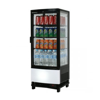 Bromic CT0100G4BC Countertop Beverage Chiller Curved Glass Black - 100 Litre
