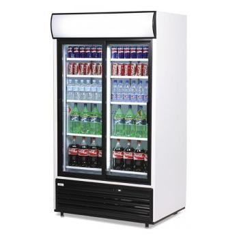 Bromic GM0875LS LED Sliding Glass Door Display Chiller w/Lightbox