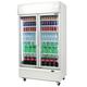 Bromic GM1000L LED White Glass Door Chiller w/Lightbox - 1000 Litre