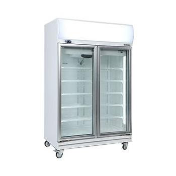 Bromic GD1000LF Upright Double Glass Door Chiller w/Lightbox - 976 Litre