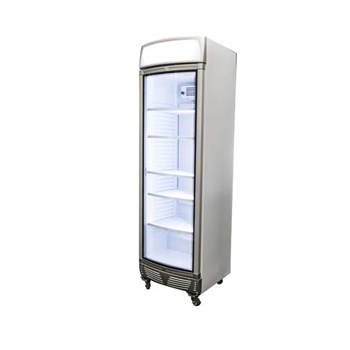 Bromic UF0440LS LED Glass Door Static Freezer w/Lightbox - 440 Litre