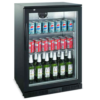 BB01320GD-NR Black Back Bar Chiller - 118 Litre