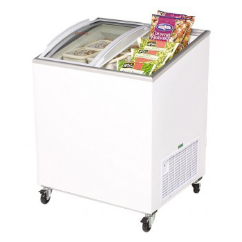 BROMIC CF0200ATCG Curved Glass Chest Freezer