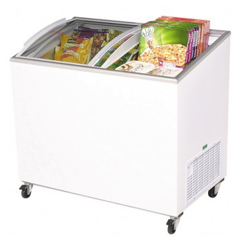 BROMIC CF0300ATCG Curved Glass Chest Freezer