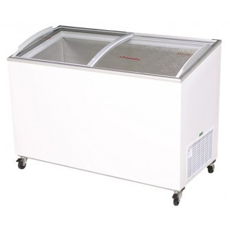 BROMIC CF0400ATCG Curved Glass Chest Freezer