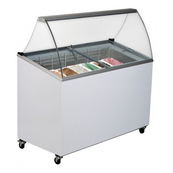 Bromic GD0007S Angle Top Flat Glass Gelato Display
