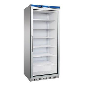 Single Door Stainless Stain Display Freezer with Glass Door 620L