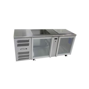 Williams Glass Chiller GC2UGDSL Two Door Fridge – Stainless Steel
