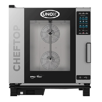 UNOX XEVC-0711-GPR ChefTop Mind Maps PLUS Series 7 Tray Gas Combi Oven