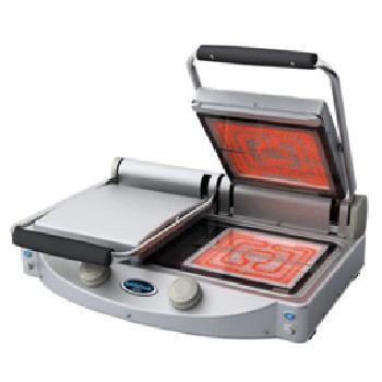 UNOX Spidocook XP020PT Flat Plate Transparent Glass Ceramic Double Contact Grill