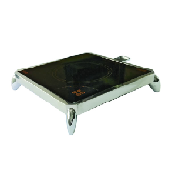 Yellow Induction Free Standing Unit Mounted Chrome Stand with On-board Controls and Rear Chafer Support