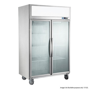TECNOtherm Double Door Upright Display Fridge 1000L (SUCG1000)