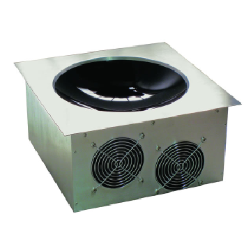 Yellow Induction Built In Single Wok Unit with Remote Controller
