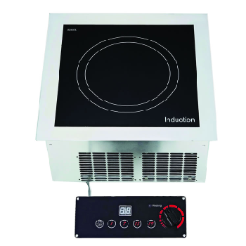 Yellow Induction Built In Single Hob with Remote Controller