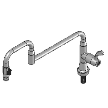 Yellow Tapware Premium Deck Mount Pot Filler with 457mm Double Jointed Swing Arm