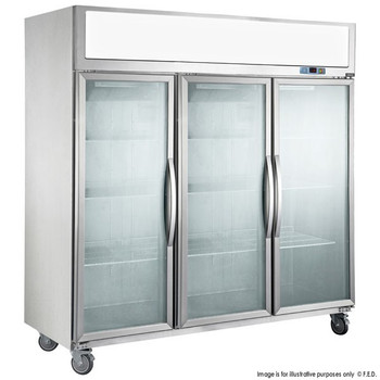 TECNOtherm Three Door Upright Display Freezer 1500L (SUFG1500)