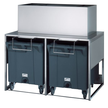 Brema DRB100 Ice Bin, 50kg Storage with 2 Trolleys