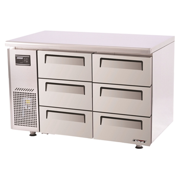 Turbo Air Range Undercounter Drawer Fridge 6 Drawers 311 Lt
