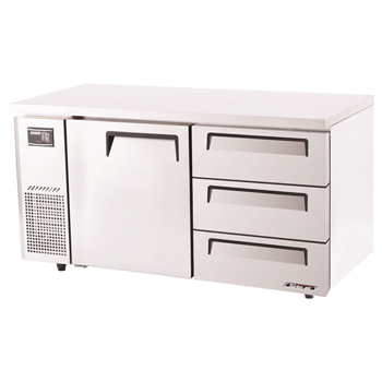 Turbo Air Range Undercounter Drawer Fridge 425Lt