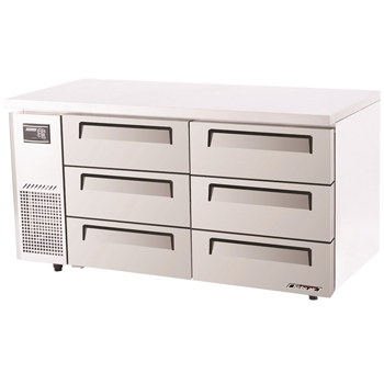 Turbo Air Range Undercounter Drawer Fridge 6 Drawers 425Lt