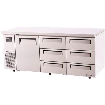 Turbo Air Range Undercounter Drawer Fridge 538lt