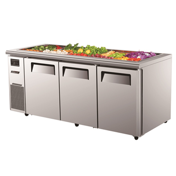 Turbo Air 3 Door Salad Prep Table-Buffet