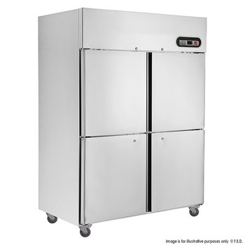 TROPICAL Thermaster 4×½ door SS Fridge 1200L