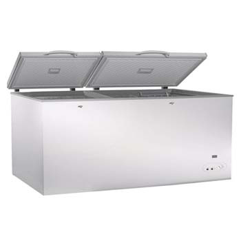 Exquisite ESS750H Stainless Steel Top Chest Freezer – Split Door