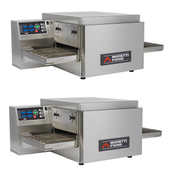 Moretti Forni T64 Double Deck Electric Bench Top Conveyor Oven