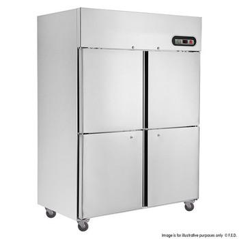 TROPICAL Thermaster 4×½ door SS Freezer 1200L