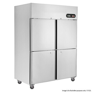 TROPICAL Thermaster 4×½ door SS Freezer 1200L