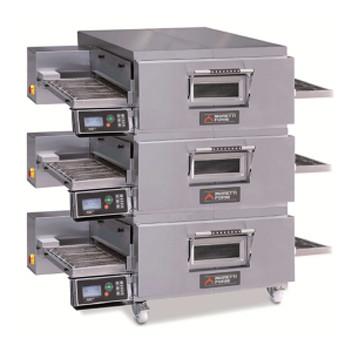 Moretti Forni TT98E/3 Series Triple Deck Conveyor Oven with Legs and Castors