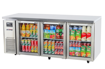 Austune KGR18-3 Under Counter Glass Door Refrigerator