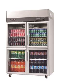 Austune KR45-4G Turbo Air four half Glass Door Display fridge 1210L