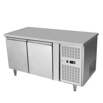 Snowman BSL1360 Stainless Steel 2 Solid Doors Undercounter Bench Freezer