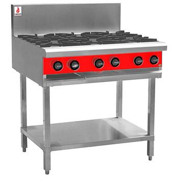 Fuoco F6OBS 6 Open Burner Cooktop