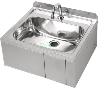 Hands Free Knee Operated Stainless Steel Basin